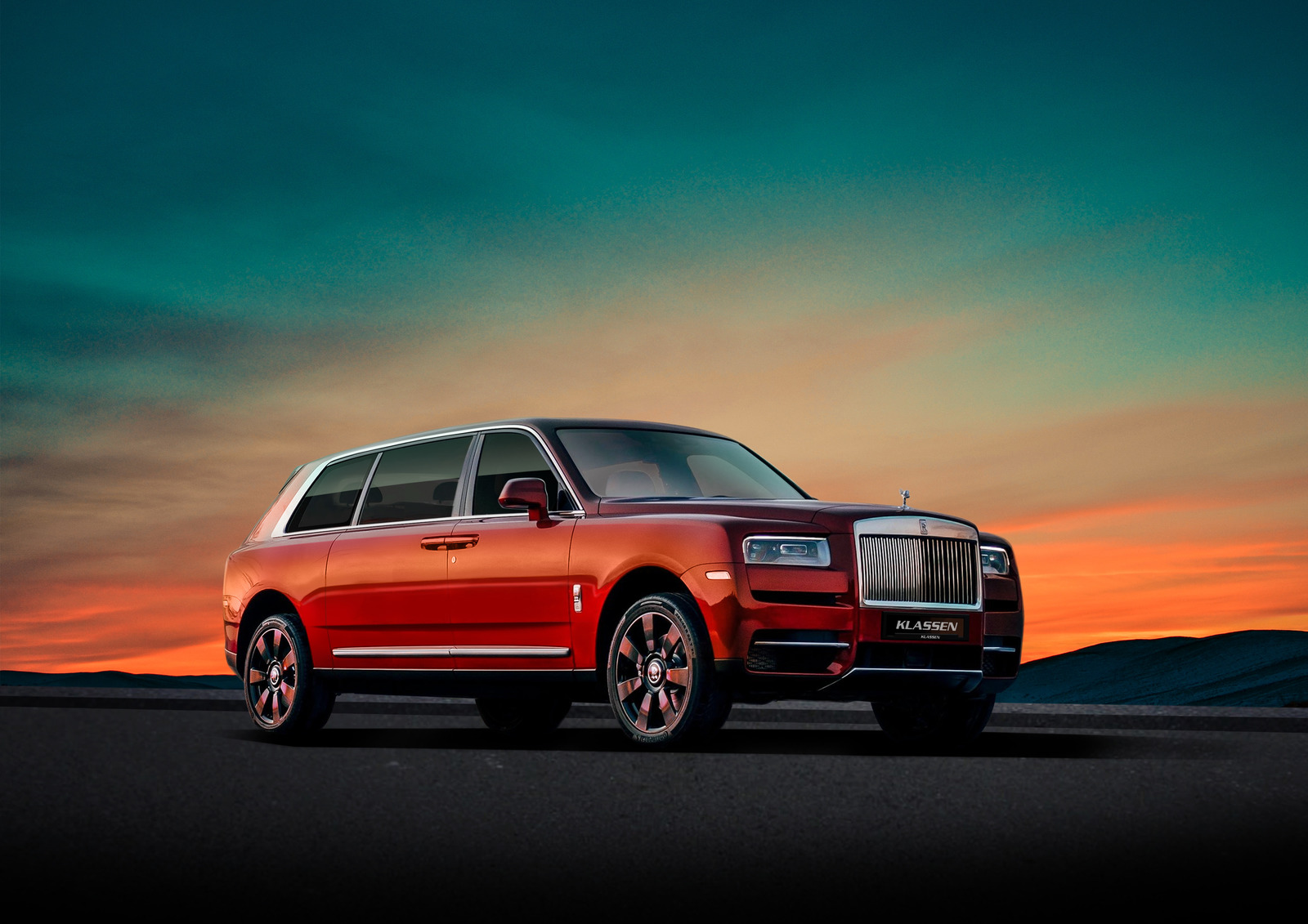 Rolls Royce Cullinan Armored and Stretched cars +580mm
