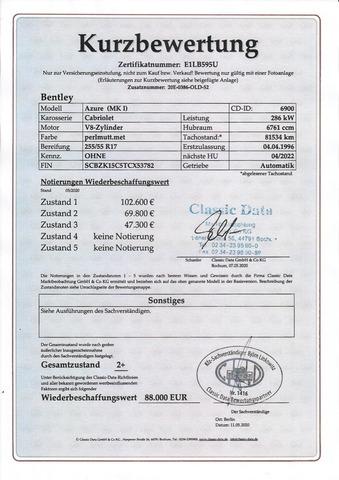 Bentley Azure Deutsche EZ! Unfallfrei+Scheckheft! CD2+ (Bild 30)