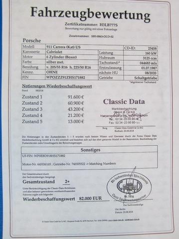 Porsche 911 3.2 CABRIO UNFALLFREI+SCHECKHEFT VERKAUFT ! (Bild 30)